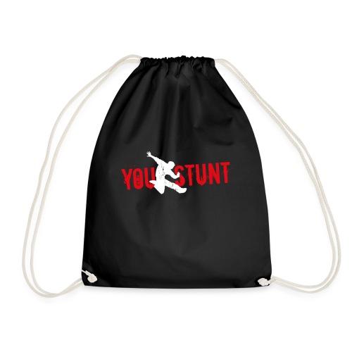 Youstunt Logo Digitaldruck ohne Claim Weiß Rot - Turnbeutel