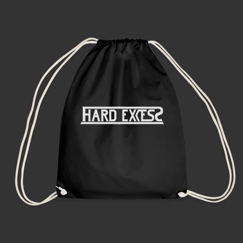 HARD EXCESS Logo weiß - Turnbeutel
