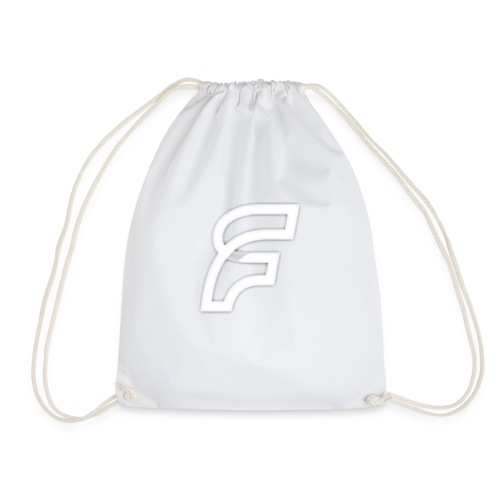 FaMe Icon Weiß + Schrift - Turnbeutel