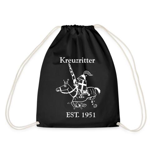Kreuzritter Logo mit Schrift - Turnbeutel