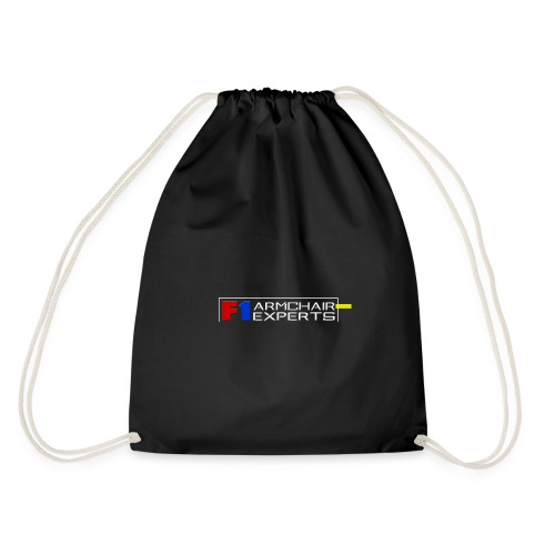 F1 Armchair Expert Official Logo WHT - Drawstring Bag