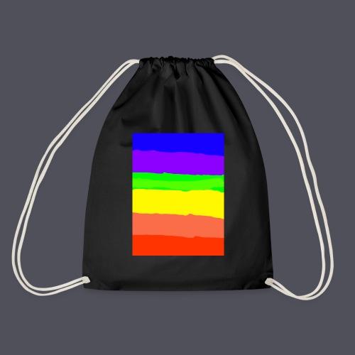 Luna The Kitten & Rainbow Design - Drawstring Bag