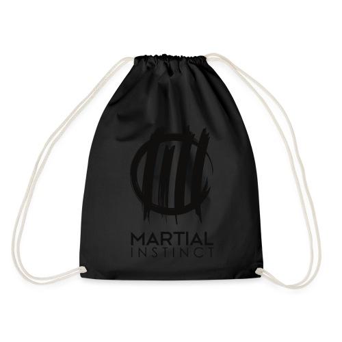MARTIAL INSTINCT - Black Logo (Rücken) - Turnbeutel