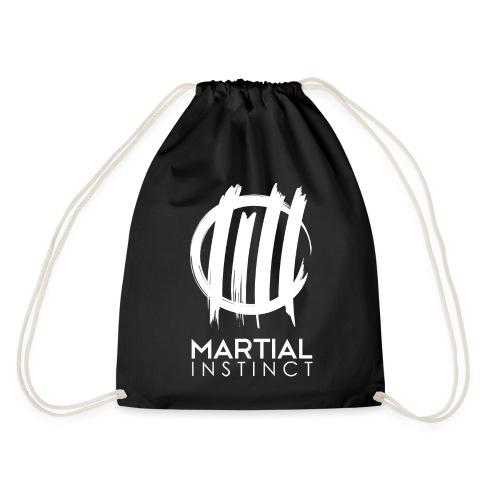 MARTIAL INSTINCT - White Logo (Rücken) - Turnbeutel