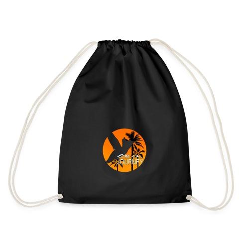 Logo on a journey komplett orange mit palmen Kopie - Turnbeutel