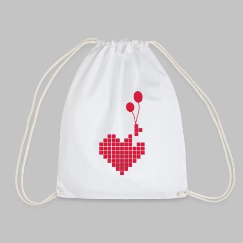 heart and balloons - Drawstring Bag