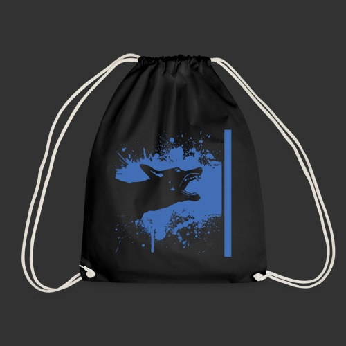 K9 Thin Blue Line - Drawstring Bag