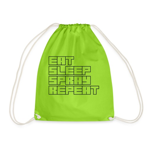 EATSLEEPSPRAYREPEAT - Drawstring Bag