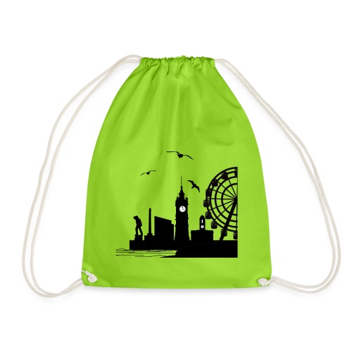 Silhouette of Margate - Drawstring Bag