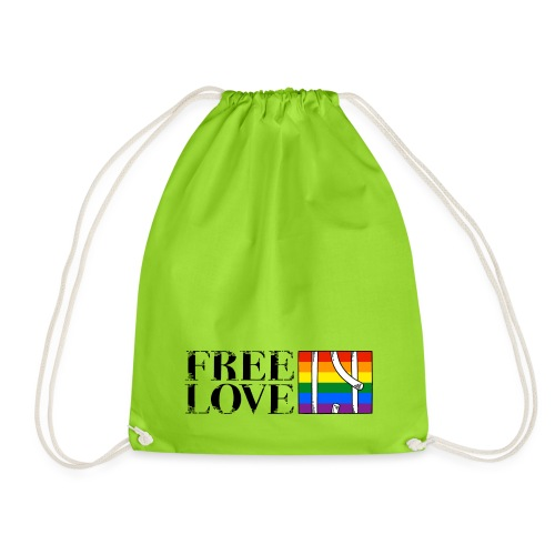 Free Love Rainbow Flag Freie Liebe - Turnbeutel