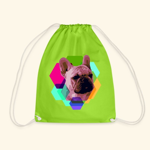 French Bulldog head - Sac de sport léger