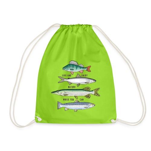 10-34B FOUR FISH - Tekstiili- ja lahjatuotteet. - Jumppakassi