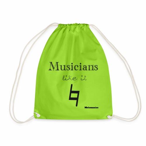 Musiker mögen's natürlich - Turnbeutel