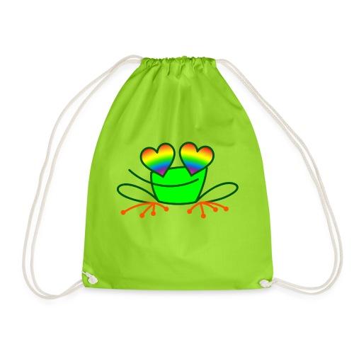 Pride Frog in Love - Drawstring Bag