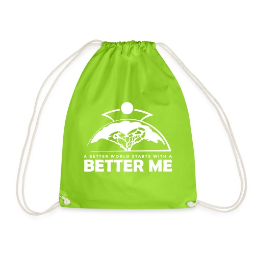 Better Me - White - Drawstring Bag