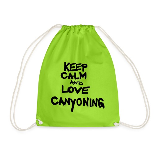 keep calm and love canyoning - Turnbeutel