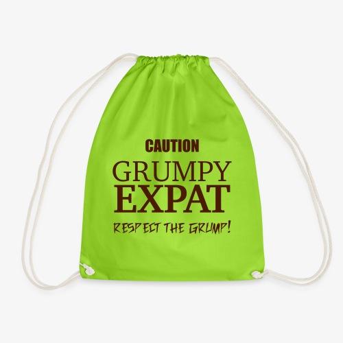 Caution - Respect the Grump - Drawstring Bag