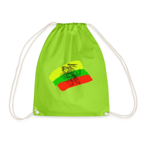 Lithuanian flag with rider - Drawstring Bag