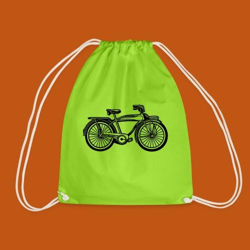 Beach Cruiser Fahrrad 01_schwarz - Turnbeutel
