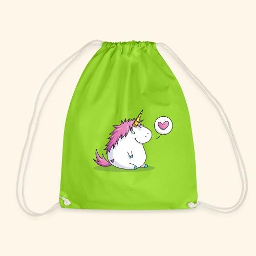 Fat Unicorn with Heart - Turnbeutel