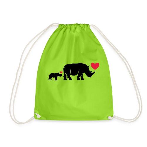 Russell Rhino mum and son - Drawstring Bag