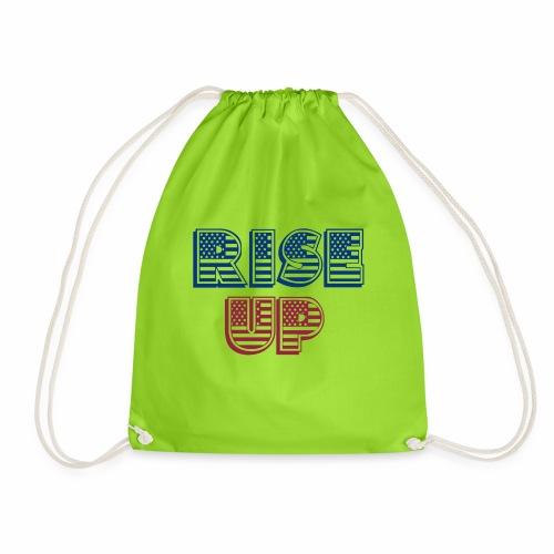 rise up - Drawstring Bag