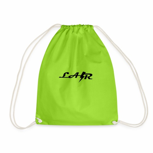 LaZr Lightning Bolt Text Logo - Drawstring Bag