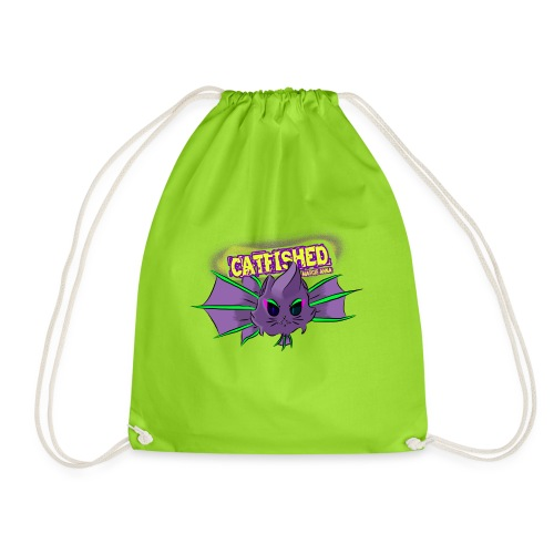 cat fish - Drawstring Bag