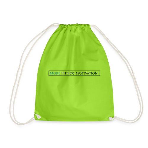 Fitness Motivatie shirt wit/groen - Drawstring Bag