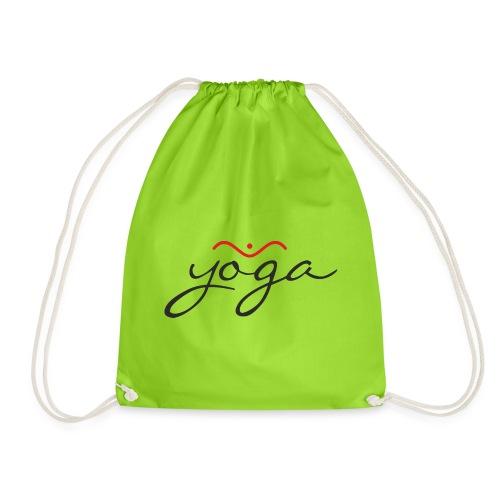 Yoga Balancing Typography And Emblem 1 - Turnbeutel