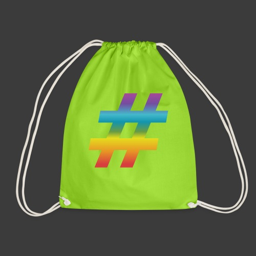 rainbow hash include - Drawstring Bag
