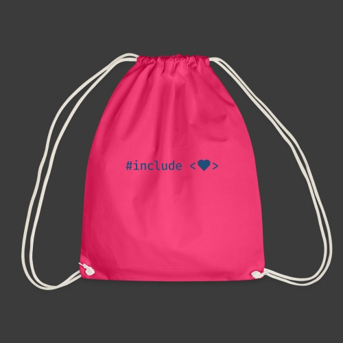 Blue Include Heart - Drawstring Bag