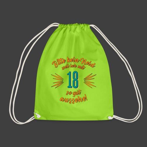 Geburtstag 18 - Bitte kein Neid petrol - Rahmenlos - Turnbeutel