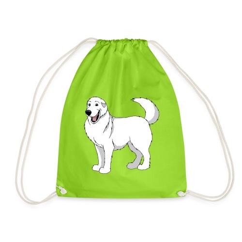 Loveable Pyrenean Mountain Dog - Drawstring Bag