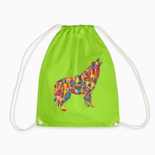 howling colorful - Drawstring Bag