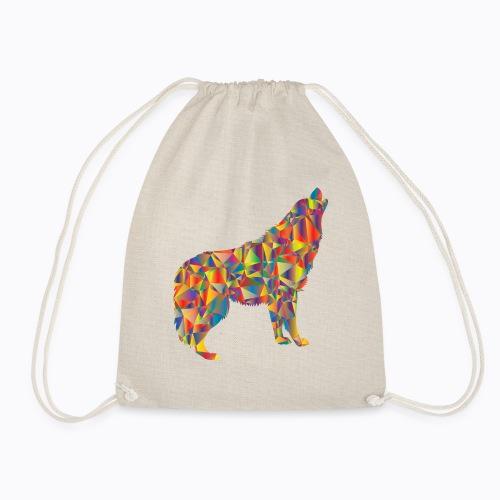 howling colorful - Drawstring Bag
