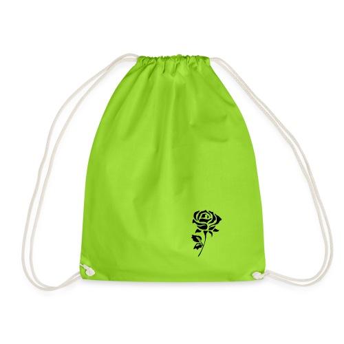 Black Rose - Drawstring Bag