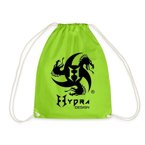 Hydra DESIGN - logo blk - Sacca sportiva