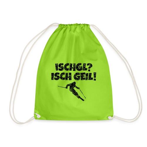 Ischgl Ischgeil (Vintage Schwarz) Ski Skifahrer - Turnbeutel