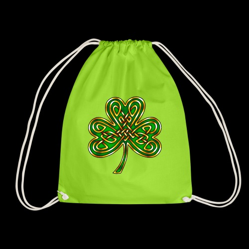 Celtic Knotwork Shamrock - Drawstring Bag