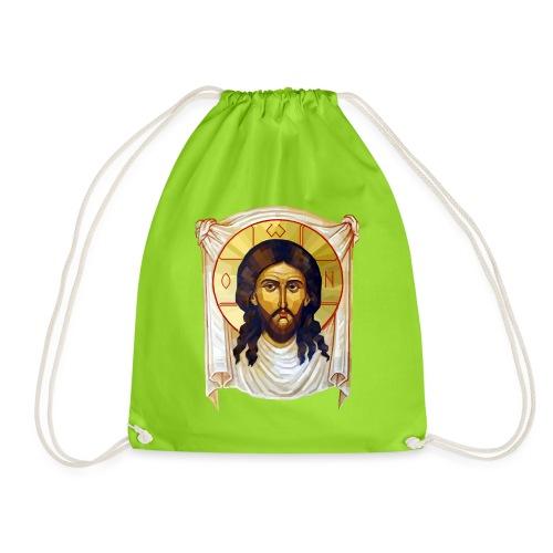 Low-Poly Jesus Icon - Drawstring Bag