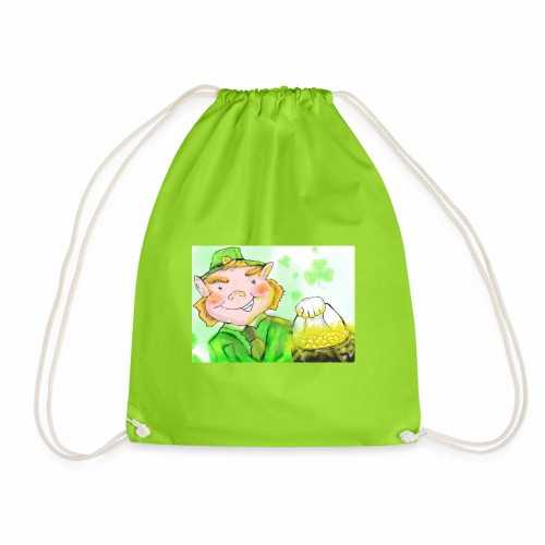 lenny the leprechaun - Drawstring Bag