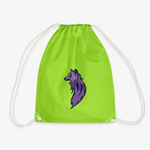 Long Hair Purple Wolf - Drawstring Bag