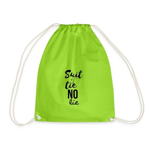 Suit and Tie No Lie - Drawstring Bag