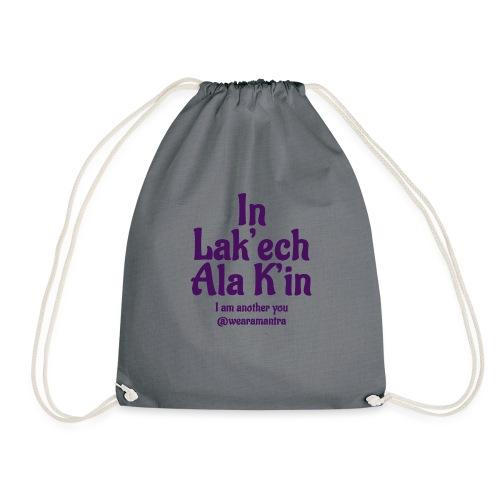 In Lak ech Ala K'in purple - Sacca sportiva