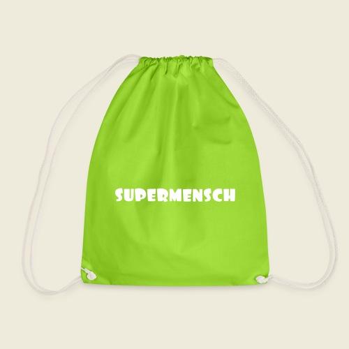 Supermensch in weiß 2 - Turnbeutel