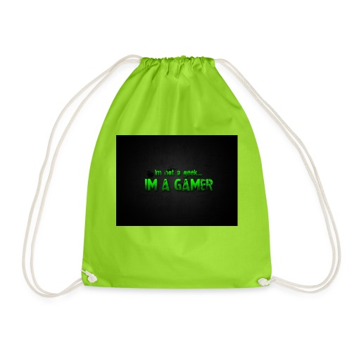 i'm a gamer - Drawstring Bag