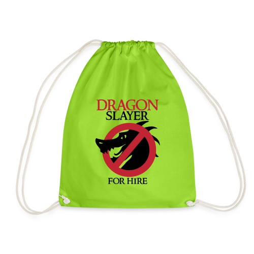 Dragon Slayer for Hire - Drawstring Bag