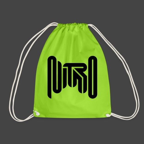 Mr Nitro Logo 2021 - Black - Drawstring Bag