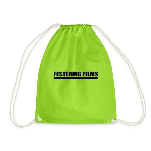 Festering Films Logo (Black) - Drawstring Bag